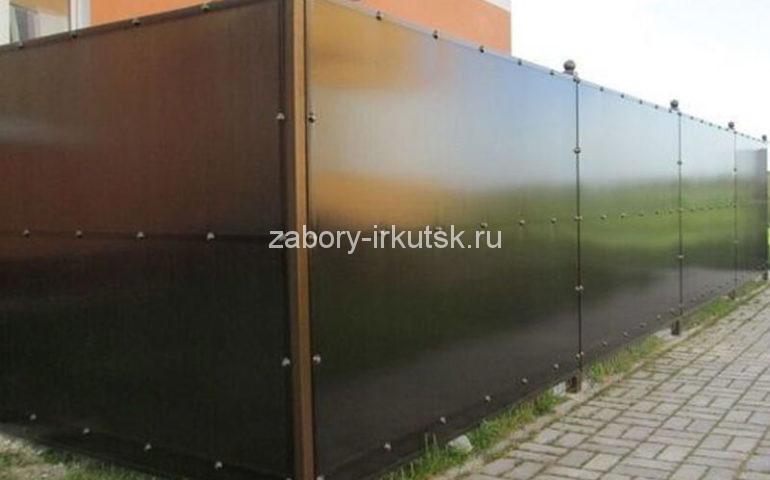 забор из поликарбоната непрозрачный