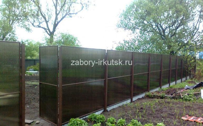 изготовление заборов из поликарбоната в Иркутске