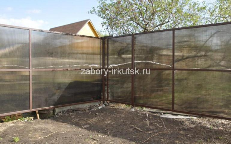 забор из поликарбоната в Иркутске