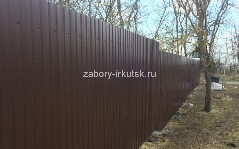 забор из профлиста в Иркутске